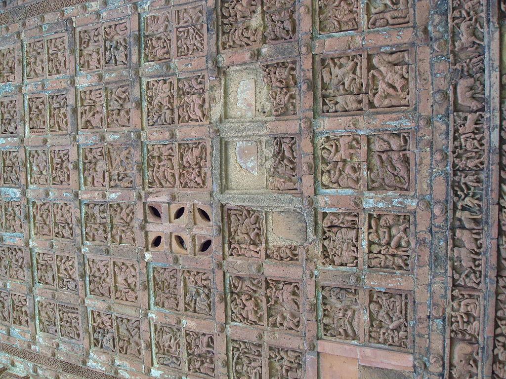 Terracotta work on Jor Bangla temple, Bishnupur 4.JPG