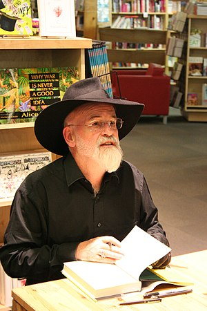 Terry Pratchett at Powell's in 2007.