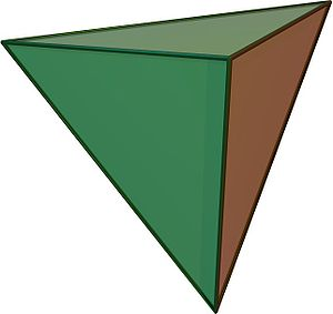Tetrahedral symmetry - A regular tetrahedron, an example of a solid with full tetrahedral symmetry