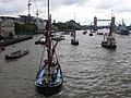 Thames barge parade - in the Pool - Ardwina 6703.JPG
