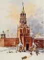 The (Saviour) Spassky Tower of the Kremlin, Moscow , c. 1913.jpg