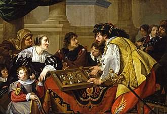 Tables (board game) - The Backgammon Players by Theodoor Rombouts, 1634