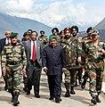 The Defence Minister, Shri A. K. Antony, the Defence Secretary, Shri Pradeep Kumar and the Chief of Army Staff, Gen. V.K. Singh arrived at Kibithu, in Arunachal Pradesh on February 19, 2011.jpg