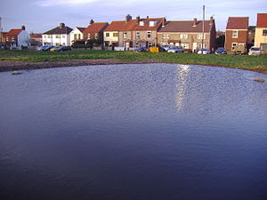 Beeston Regis - The Dew pond on Beeston Regis Common, reinstated in 2007