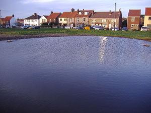 Beeston Regis - The Dew pond on Beeston Regis Common, reinstated in 2007