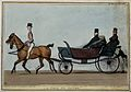 The Duke of Wellington rides in an open top carriage with Si Wellcome V0050268.jpg
