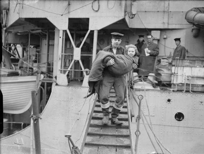 File:The Evacuation of Norwegian Civilians From Soroy Island by the Royal Navy, 27 February 1945 A27489.jpg