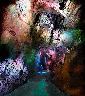 Heights of Abraham - Great Masson cavern lead mining history displays