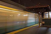 The Green Line moving through Coolidge Corner.jpg
