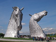 The Kelpies, at The Helix, Scotland.JPG