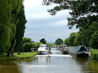 Lichfield Canal - A short section at the eastern end acts as moorings