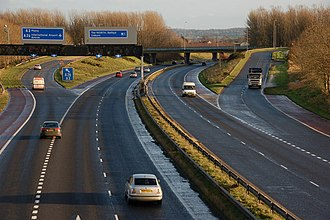 Moira, County Down - The M1 heading south at Moira Roundabout