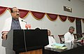 The Minister of State (Independent Charge) for Consumer Affairs, Food and Public Distribution, Professor K.V. Thomas delivering the presidential address at the Natural Fibre Craft Exhibition 2013.jpg