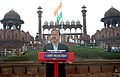 The Minister of State for Defence, Dr. Subhash Ramrao Bhamre addressing the NCC cadets and school children, during the Independence Day Celebrations - 2017 rehearsals, at Red Fort, in Delhi on August 11, 2017.jpg