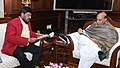 The Minister of State for Social Justice & Empowerment, Shri Ramdas Athawale calling on the Union Home Minister, Shri Rajnath Singh, in New Delhi on December 30, 2016.jpg