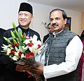 The Minister of Tourism and Culture, Malaysia, Mr. Dato Seri Mohamed Nazri Abdul Aziz meeting the Minister of State for Culture and Tourism (Independent Charge), Dr. Mahesh Sharma, in New Delhi on February 15, 2017.jpg