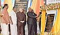 The President, Shri Ram Nath Kovind unveiling the plaque to lay the foundation stone of the First Government Building in Technocity, at Thiruvanthapuram, in Kerala.jpg