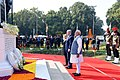 The Prime Minister, Shri Narendra Modi and the Prime Minister of Israel, Mr. Benjamin Netanyahu paying homage, at Teen Murti Chowk, in New Delhi on January 14, 2018.jpg
