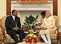 The Prime Minister, Shri Narendra Modi meeting the King Mswati III of Swaziland, during the 3rd India Africa Forum Summit, in New Delhi on October 28, 2015 (2).jpg