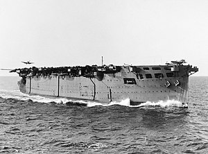 HMS Argus (I49) - Argus at sea during Operation Torch in late 1942