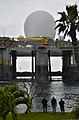 The Sea-based X-Band Radar (SBX) transits the waters of Joint Base Pearl Harbor-Hickam, Hawaii, March 22, 2013 130322-N-RI884-060.jpg