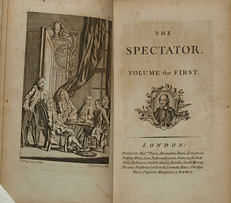 The Spectator (1711) - Title pages of the c. 1788 edition of the collected edition of Addison and Steele's The Spectator.