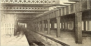 Delancey Street/Essex Street (New York City Subway) - The Essex Street station during its construction.