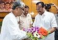 The Union Minister for Statistics and Programme Implementation, Shri D.V. Sadananda Gowda meeting the Chief Minister of Tripura, Shri Manik Sarkar, at Agartala on September 14, 2017.jpg