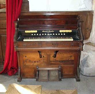 We Can Work It Out - A Mason & Hamlin pump organ or harmonium. Lennon played a Mannborg harmonium on the recording.