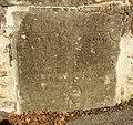 The county boundary stone on Llwyn-dwfr Bridge, Llanycefn - Llandissilio East - geograph.org.uk - 603722.jpg