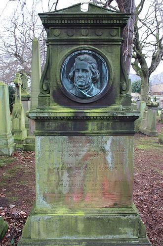Thomas Bonnar - The grave of Thomas Bonnar (1810-1873) Dean Cemetery