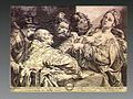 The head of John the Baptist is brought to Salome. Engraving Wellcome V0034737.jpg