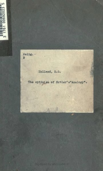 File:The optimism of Butler's 'Analogy'.djvu