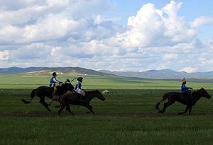 Three Naadam riders