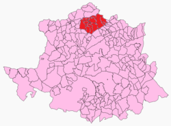 Location in the province of Cáceres.