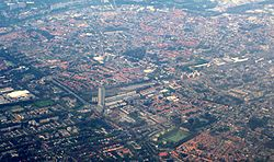 Bird's eye view of Tilburg
