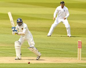 Sri Lankan cricket team in England in 2011 - Tillakaratne Dilshan batting during his innings of 193 at Lord's in June 2011.