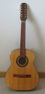 Colombian tiple 12-string guitar type with 4 triple courses