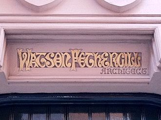 Watson Fothergill's offices - Image: Title above the door of the Watson Fothergill offices
