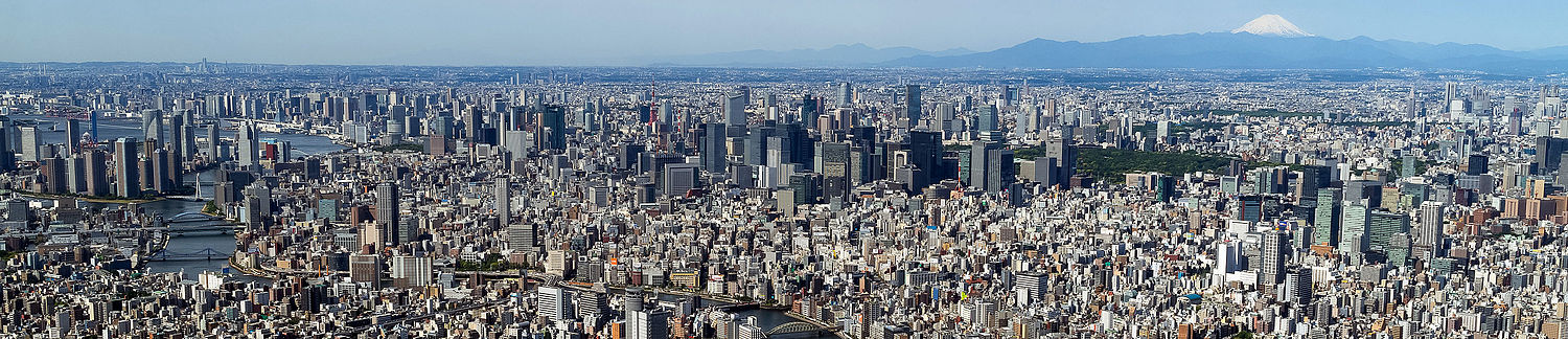 Tokyo from the top of the SkyTree (cropped)