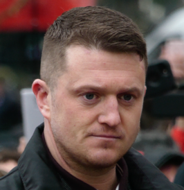 Tommy Robinson in Speakers' Corner, Hyde Park (Londen) op 18 maart 2018