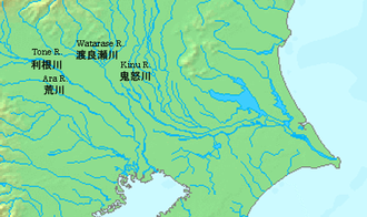 Tone River - Image: Tone riverine system 16century