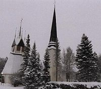 Tornio Church in late-December 2000