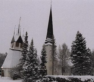 Tornio - Tornio Church in late-December 2000