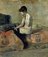 Toulouse-Lautrec - ETUDE DE NU, FEMME ASSISE SUR UN DIVAN, 1882, MTL.78.jpg