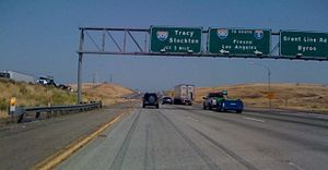 Interstate 580 (California) - Eastbound I-580 at Grant Line Road about one mile away from the I-580/I-205 split.
