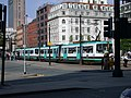 Trams 1025 - 1026 at St Peter's Square - geograph.org.uk - 731297.jpg