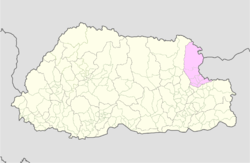Map of Trashiyangtse District in Bhutan