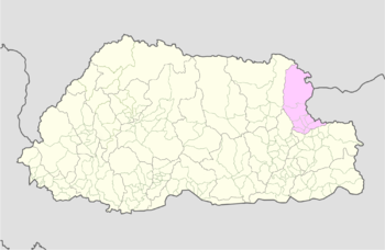 Location of Jamkhar Gewog