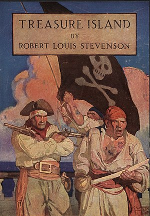 Pirates in popular culture - Illustrations of the 1911 edition of Treasure Island, by Pyle's student N. C. Wyeth